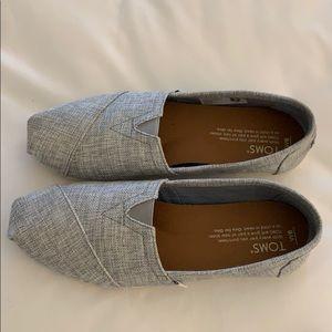 Toms Classic Grey Drizzle Canvas Shoes Sz 6
